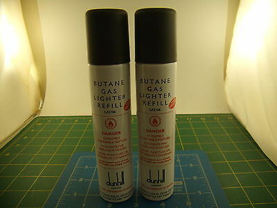Judd's Lot of 2 Cans of Dunhill Butane Gas Lighter Fluid