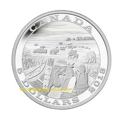 2013 Proof $5 Tradition of Hunting #1-Deer .9999 Silver Canada five dollars