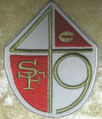 "San Francisco 49ers Shield 3.5"" Iron On Embroidered Patch ~FREE Ship"