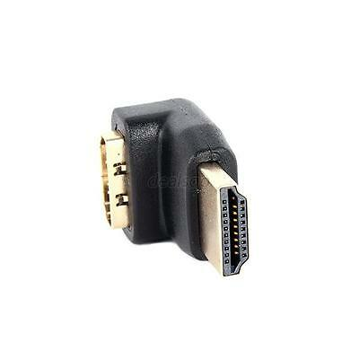 Right Angle Male to Female M/F Gold Plated Connector Adapter 270/90 Degree HDMI