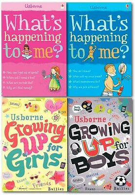 Usborne What's happening to me? Growing Up, Why should I Bother? 7 Books Set NEW