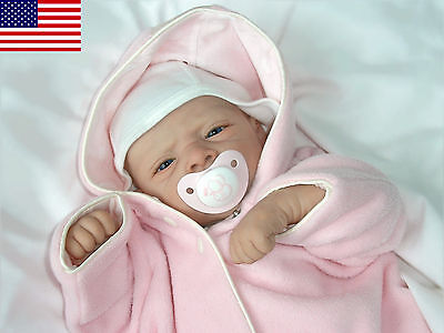 """Cute Reborn Baby Doll Kit """"Michelle"""" by Evelina Wosnjuk - Nicky Creation"""