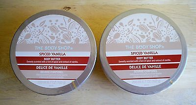 THE BODY SHOP SPICED VANILLA BODY BUTTER,LOT OF 2 ITEMS NEW! SEALED DISCONTINUED