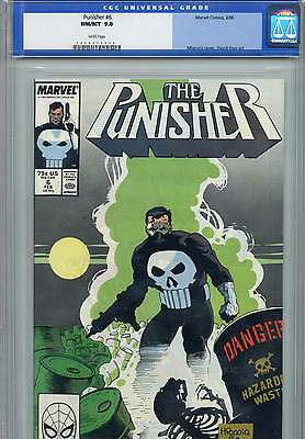Punisher # 6 CGC 9.8 Marvel Comics  Mike Baron Mike Mignola Kevin Nowlan
