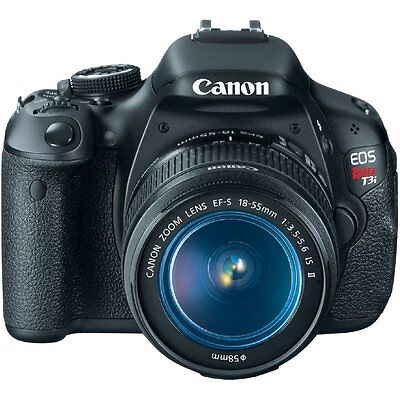 Canon EOS Rebel T3i 600D 18.0MP Digital SLR Camera Body With 18-55mm IS Lens Kit