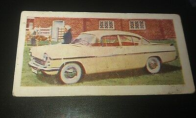 1959 VAUXHALL CRESTA  Orig Trade Card UK