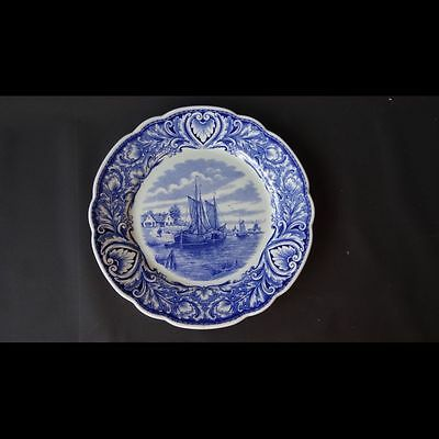 30072 Earthenware Blue and white plate Holland Delfts Royal sphinx