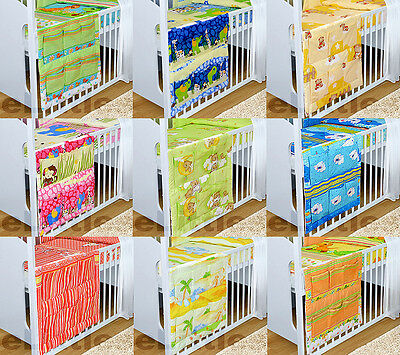 Cot Tidy Organiser For Cot Bed 6 Pockets For Nursery Bedding Set