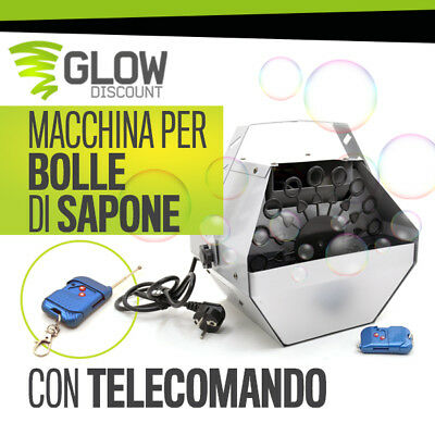 MACCHINA BOLLE DI SAPONE TELECOMANDO bubble machine sparabolle party dj 34020