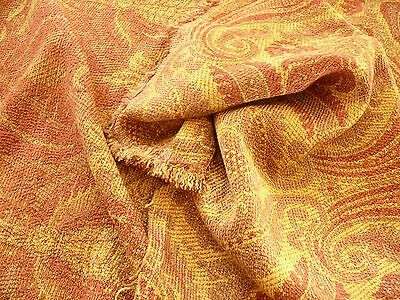 SCALAMANDRE MANCHESTER CHENILLE DAMASK RED GOLD BTY