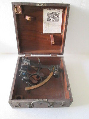 Rare Vintage Marine D.Shackman & Sons Sextant Made in England
