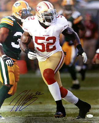 Patrick Willis San Francisco 49'ers Signed Autographed 16x20 Photo JSA COA