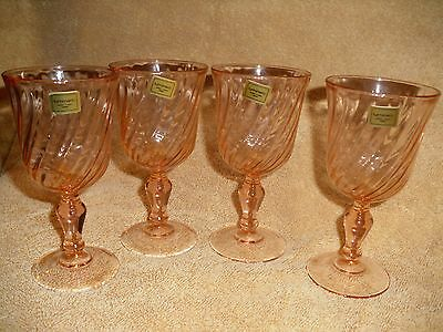 """Luminarc Verreric D'arques Crystal Of France 6"""" T Wine Goblets-Set of 4"""