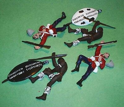 TOY SOLDIERS METAL AFRICAN ZULU WAR DEAD BRITISH 24TH FT AND ZULUS 54MM