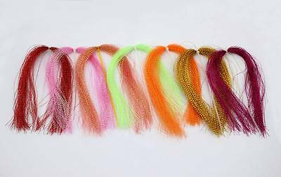 7 Pkts Of Crystal Flasher Hair In 7 Colours.perfect For Snapper And Whiting1