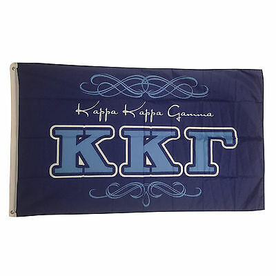 Kappa Kappa Gamma Script Flag 3' x 5' - Indoor/Outdoor Use!