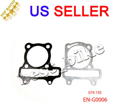 GY6 150 Head Gasket Set Engine Cylinder Chinese Scooter Moped ATV 150cc 57mm New