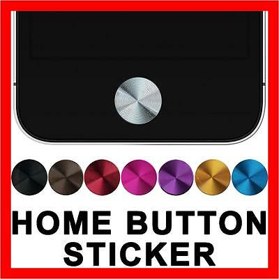 Aluminium Home Button Sticker for Apple iPhone 5S 5C 5 4S 4 iPod Touch iPad Air