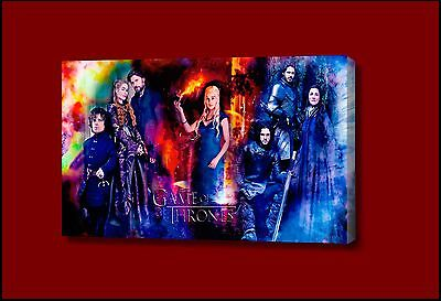 Game Of Thrones Cast Framed Picture Canvas art movie