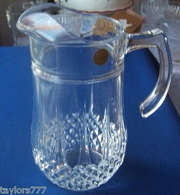 CRIS D'ARQUES LONGCHAMP 48 OUNCE PITCHER 24 % LEAD MADE IN FRANCE