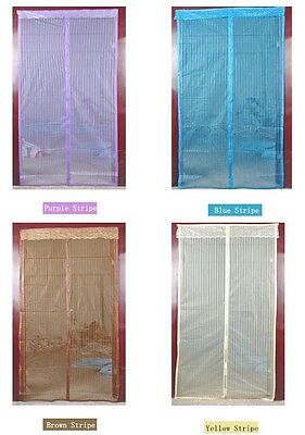 Screen Door Cover Magic Mesh Magnetic Hands Free Anti Mosquito Bug Home Curtain