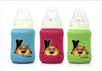 Cute Baby Feeding Bottle thermal insulate Warmer Cup Cushion Bags 14cm 10cm