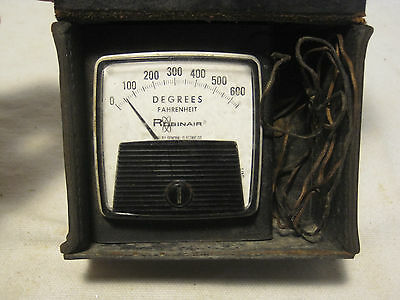 vintage ROBINAIR General Electric temperature Degrees Fahrenheit meter DW-91