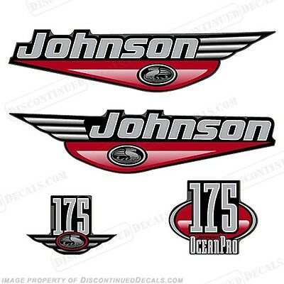 Johnson 1999-2000 OceanPro 175hp Outboard Decal Kit - You Choose Color! Decals