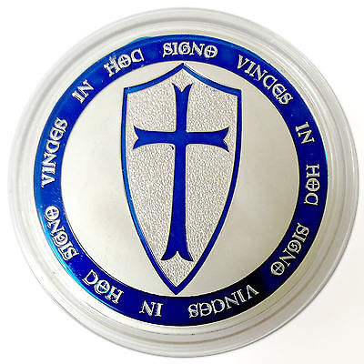 10 Limited Ed.1 Troy Oz. Knights Templar Coin .999 Fine Silver Clad Art Coin lot