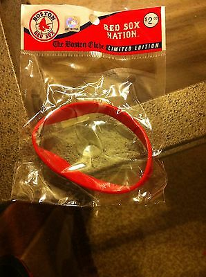 Boston Globe Limited Edition Red Sox Nation bracelet rubber silicone wristband