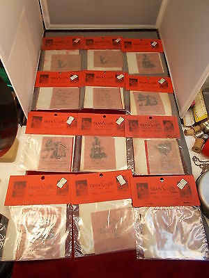 """#10 of 10, LOT OF OLD VTG PAPER CRAFTS, """"TRANS-SCRIPTS"""" TRANSFERS, NEAT SAYINGS"""