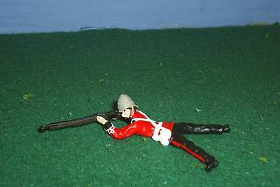 TOY SOLDIERS METAL ZULU WAR BRITISH 24TH FT SOLDIER LAYING PRONE FIRING 54MM
