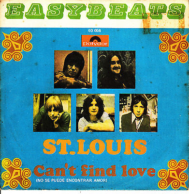 """7"""" the EASYBEATS st louis SPANISH RARE 1969 can't find love 60s MOD 45"""