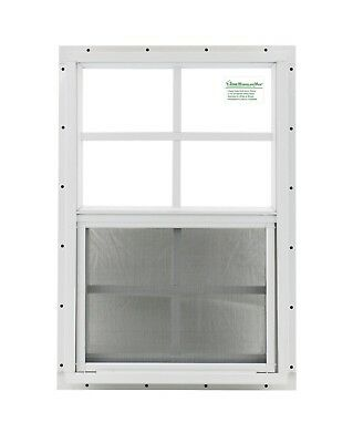 18 x 27 Shed Window SAFETY GLASS White J-channel Playhouse Tree House Coops Deer
