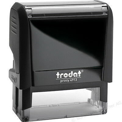 Trodat 4913 (Previously Ideal 100) Self Inking Rubber Stamps - Custom Design USA
