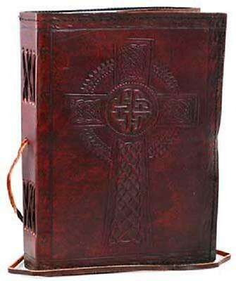 Celtic Cross leather blank book w/cord Diary Journal Mysticism