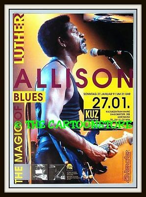 "LUTHER ALLISON, GERMANY- MINI-POSTER PRINT 7"" x 5"""