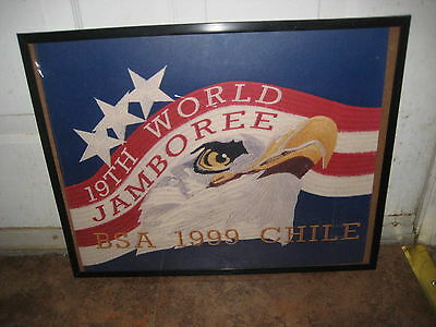 1999 World  Jamboree Framed US Contingent Logo Embroidered Patch