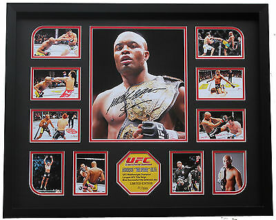 New Anderson Silva Signed Limited Edition Memorabilia Framed