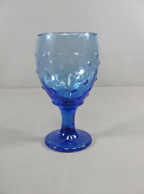 Libbey Glass HOBNAIL/RAISED DOT-BLUE Water Goblet(s) Multiple Available