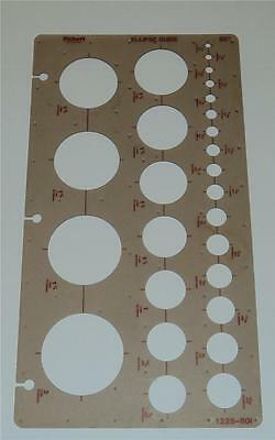 Pickett Ellipse Guide Template 80 Degree 1225-80i  / USED