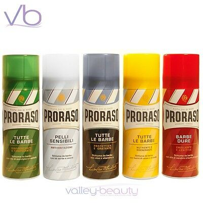 PRORASO Shaving Foam - Natural Shave Mousse, Cream, Made In Italy