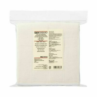 [MUJI MoMA] UNBLEACHED CUT COTTON Organic Facial Pads 180pcs ELECTRONIC CIGARETT