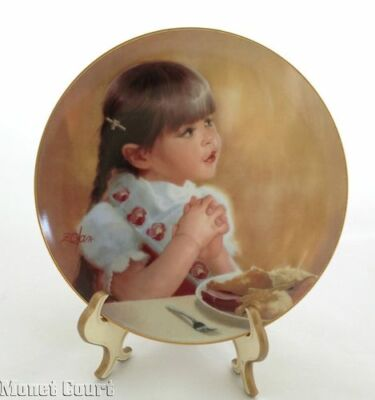 Donald Zolan Collector Plate I'm Thankful Too 7.5 inches