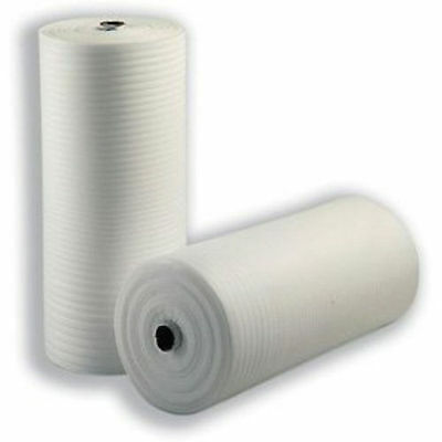 "200m 500 mm 20"" FOAM roll of JIFFY wrap Underlay Packing Carpet THICK white new"