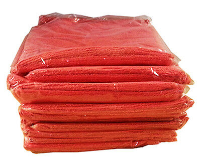 "Red Microfiber Cleaning Cloth Towel Auto Car Polishing 14""x14"" Pack of 9 Cloths"