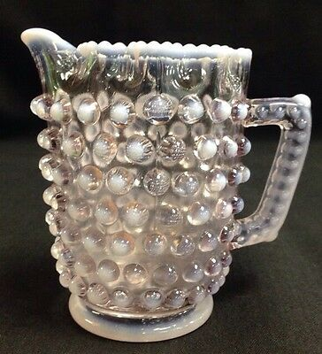 HOBNAIL WITH RUFFLED TOP WHITE OPALESCENT CHILDS CREAMER NORTHWOOD 1898