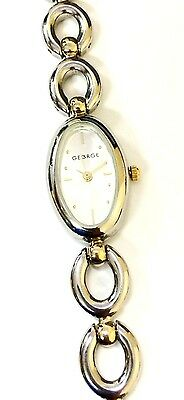 George 753H Stainless Steel Two Tone Silver Dial Women's Dress Watch