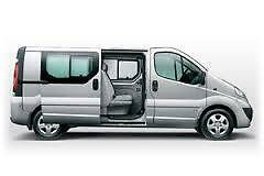 RENAULT TRAFIC CREW CAB 2006 13 FRONT & REAR SET 6 SEATER WATERPROOF GREY