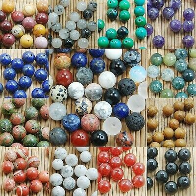 Natural Gemstone Round Spacer Loose Beads 4mm 6mm 8mm 10mm 12mm Multi Stones